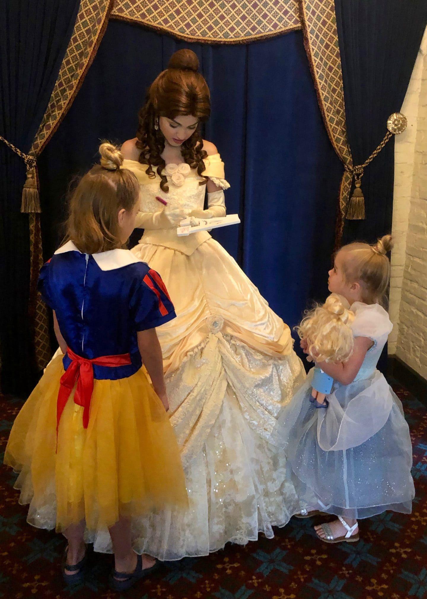 belle meet and greet at Epcot at Akershus princess breakfast