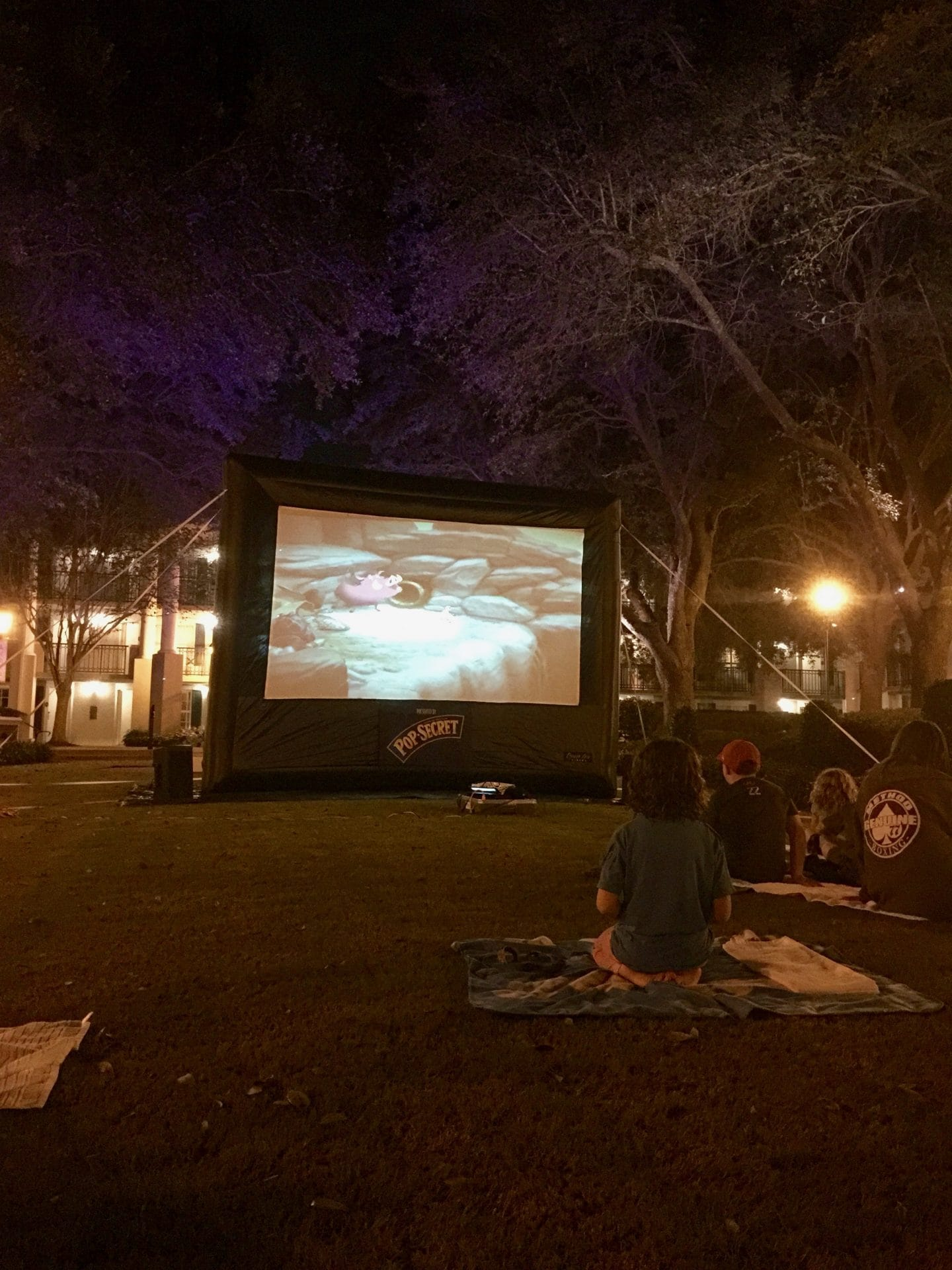 movie under the stars at Disney's port Orleans riverside