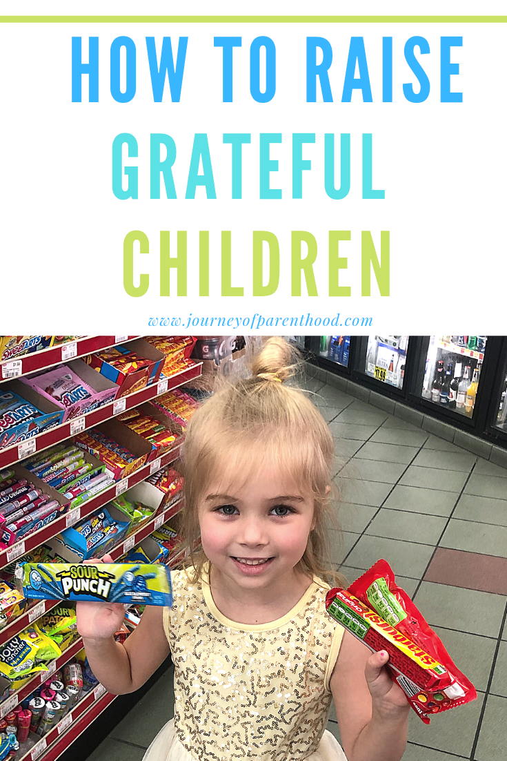 Girl with Candy - How to Raise Grateful Children