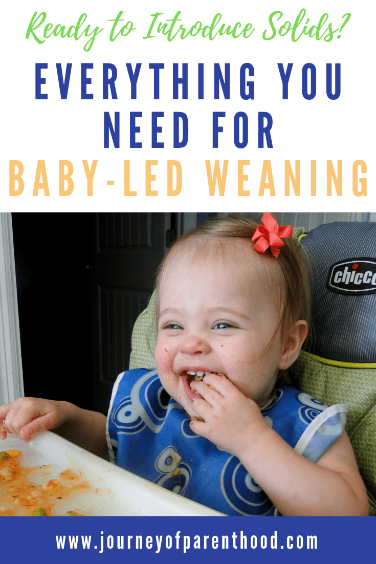 baby in high chair eating - everything you need for baby led weaning