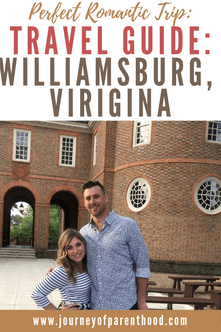 husband and wife at capitol building in Colonial Williamsburg