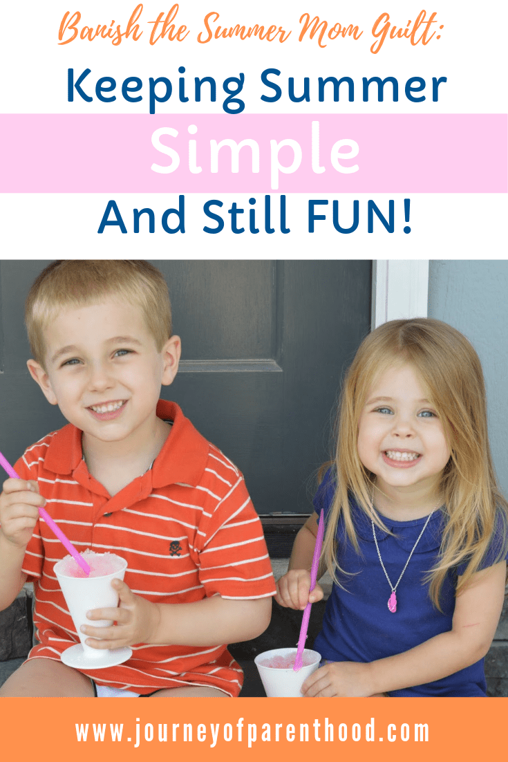 kids eating ice cream on porch : banish the summer mom guilt. keeping summer simple and still fun!