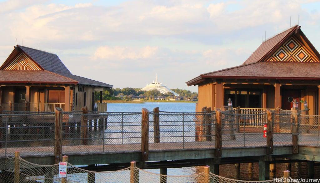 bungalows at Polynesian resort at walt Disney World resort