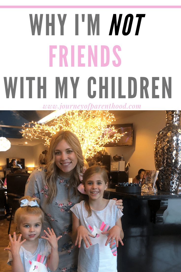 mother with daughters at nail salon - why I'm not friends with my children,