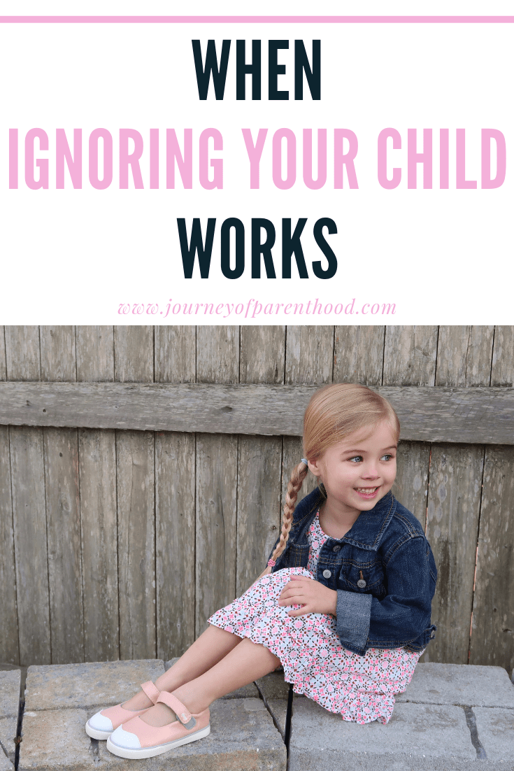girl looking away : when ignoring your child works