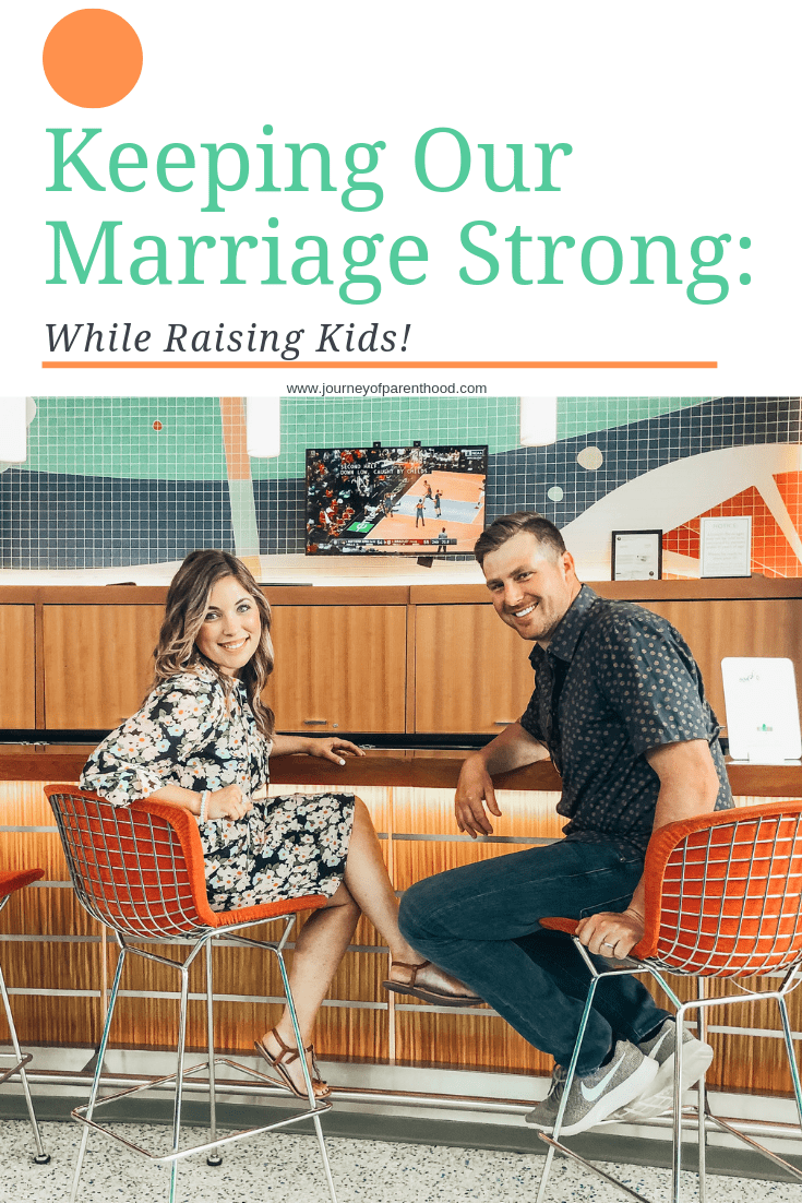 couple sitting at bar - keeping our marriage strong while raising kids