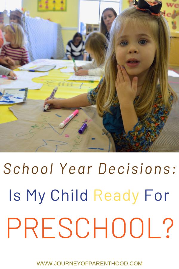 girl at school - school year decisions: is my child ready for preschool?