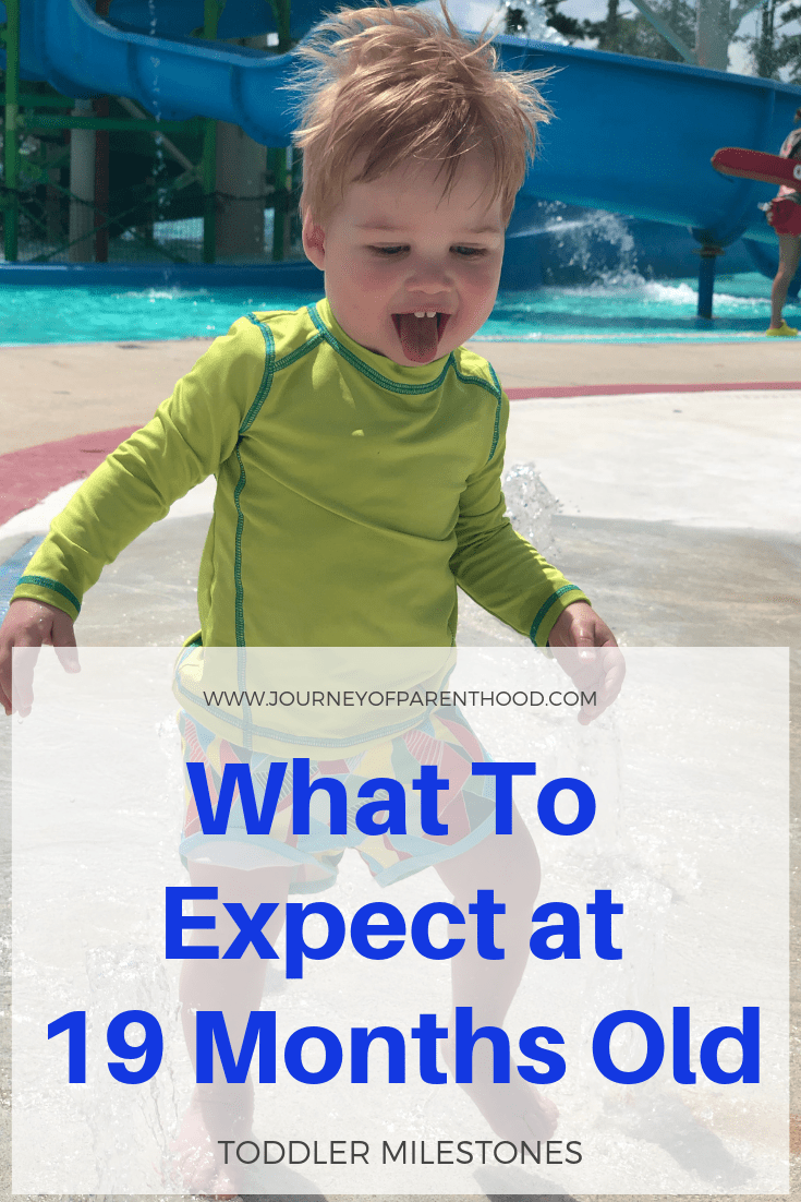toddler boy at water park - what to expect at 19 months old