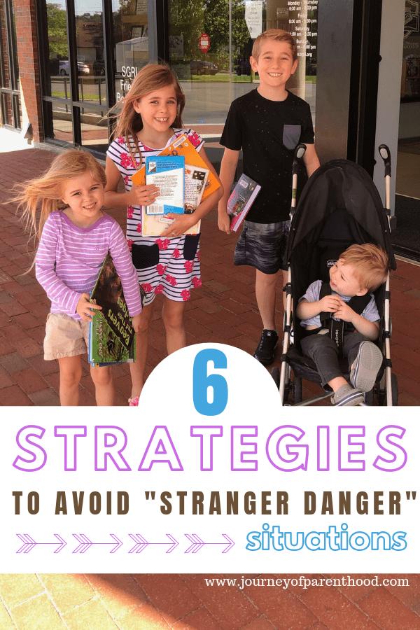 "four children outside public library - 6 strategies to avoid ""stranger danger"" situations"