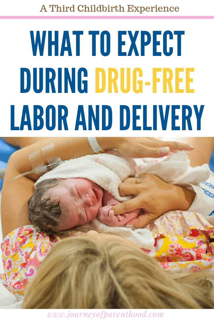 mom holding new baby - a third childbirth experience: what to expect during drug-free labor and delivery