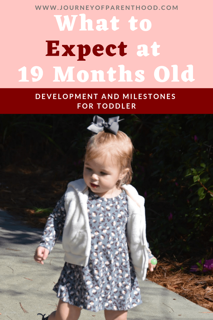 toddler girl in dress and vest - what to expect at 19 months old