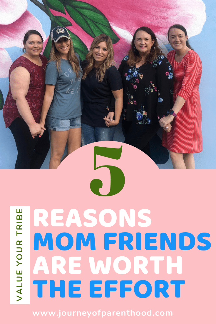 women standing together holding hands - 5 reasons mom friends are worth the effort (value your tribe)