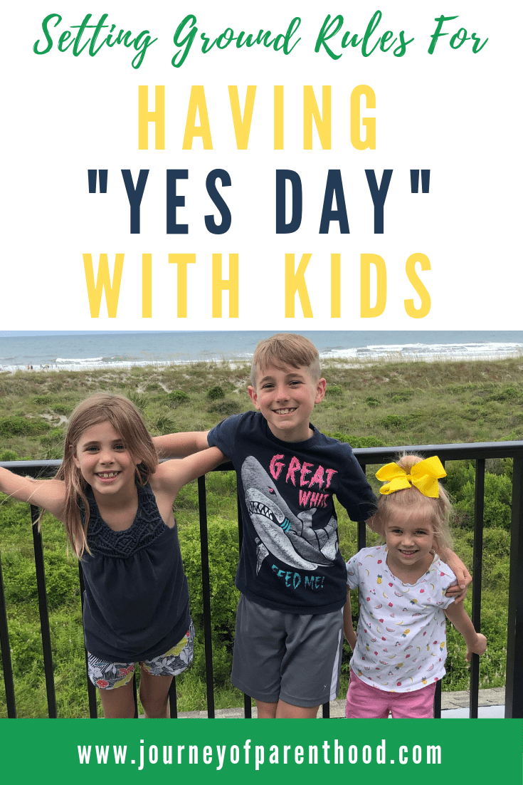 children at the beach - setting ground rules for having yes day with kids