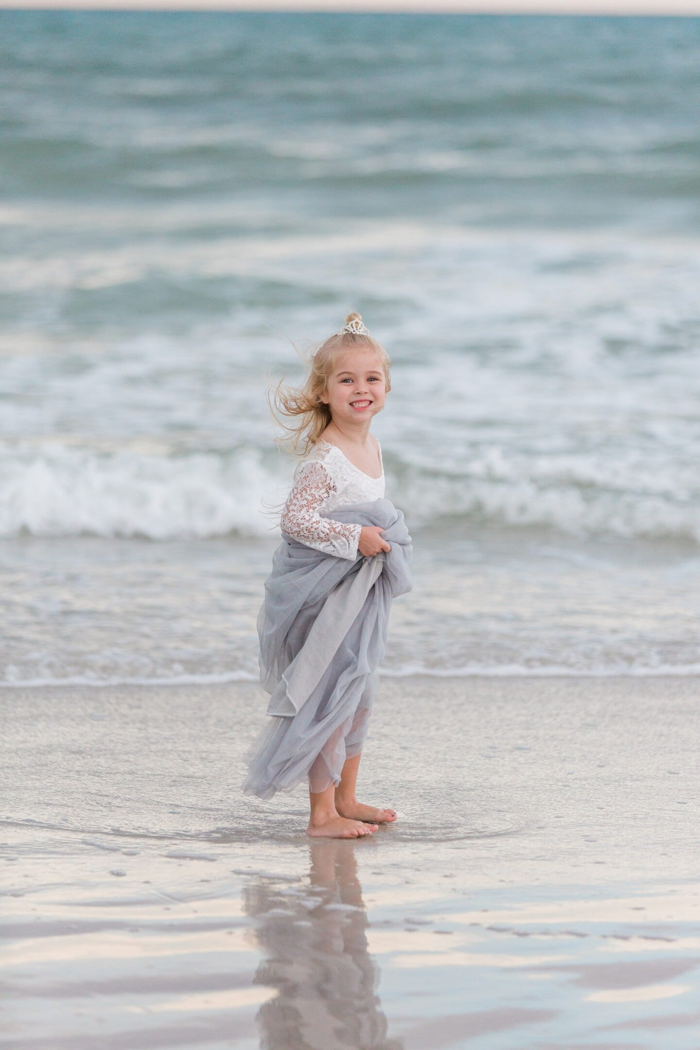 girl on beach by captured by Colson