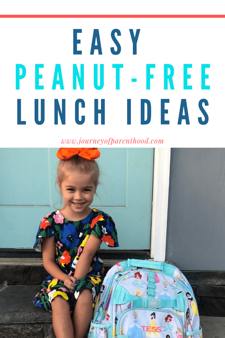 easy peanut-free lunch ideas: child sitting on front porch with book bag