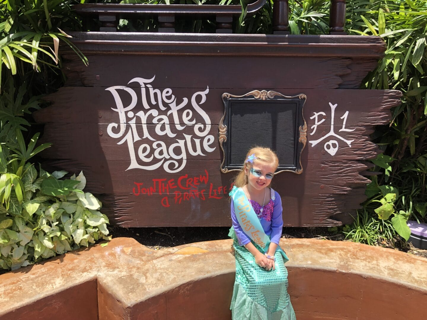 the pirate's league at magic kingdom mermaid makeover at Disney World