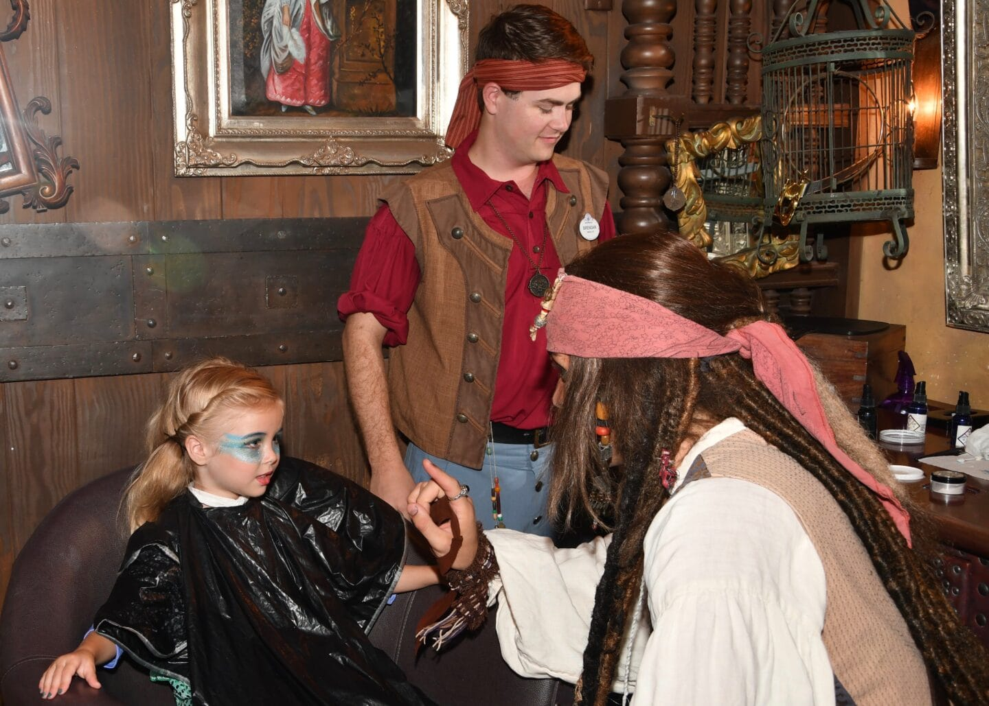 mermaid makeover at Disney World at the pirate's league