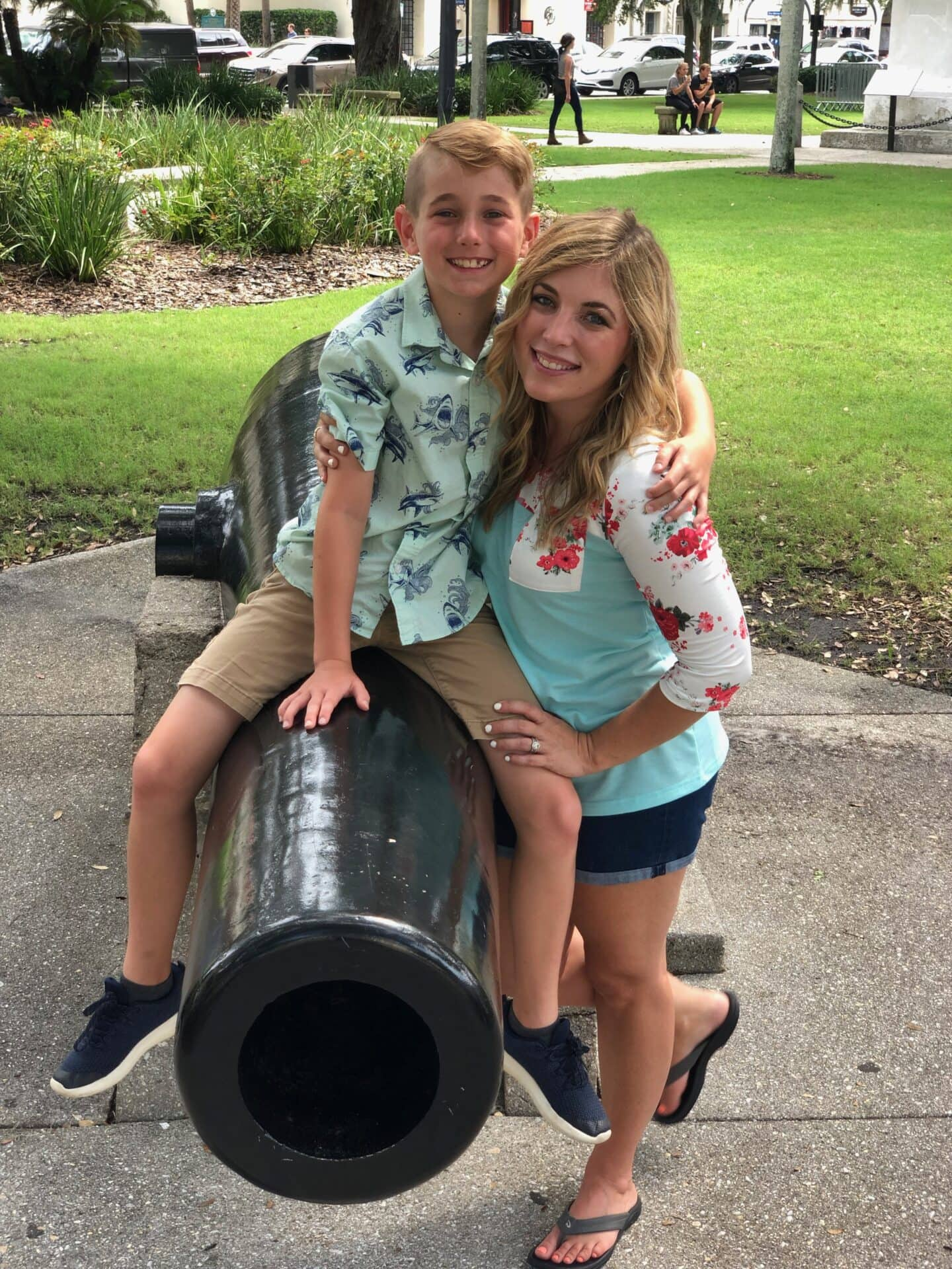 cannon in historic old town st augustine