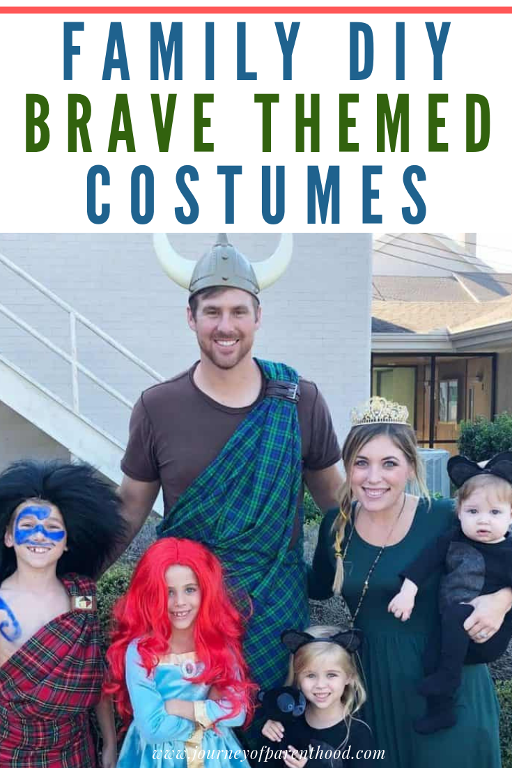 family DIY Brave Themed Halloween Costumes - Merida and More from Disney and Pixar