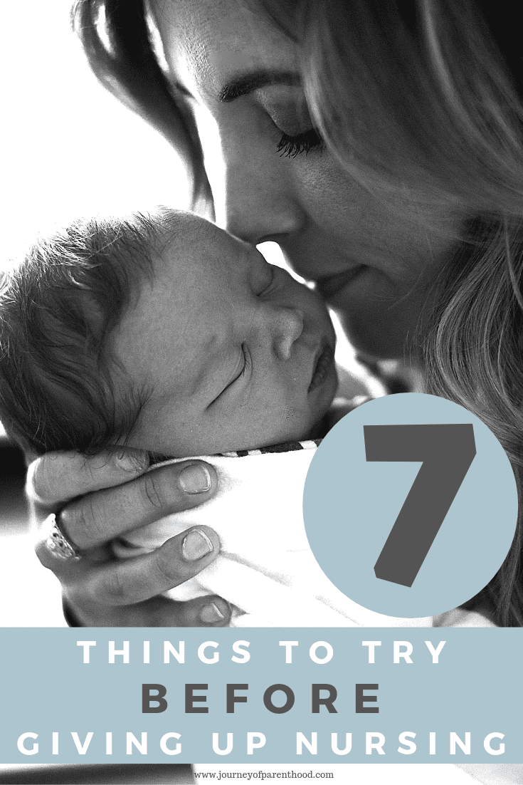mom and baby - 7 things to try before giving up nursing