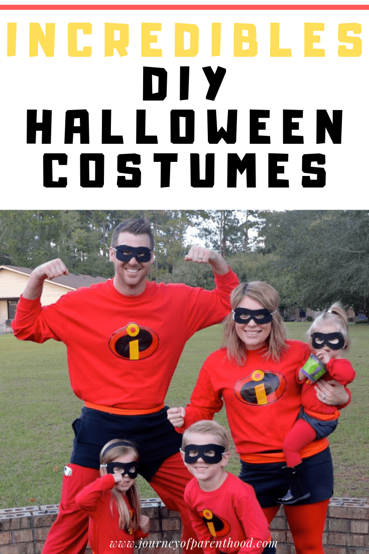 family dressed as incredibles for halloween costume