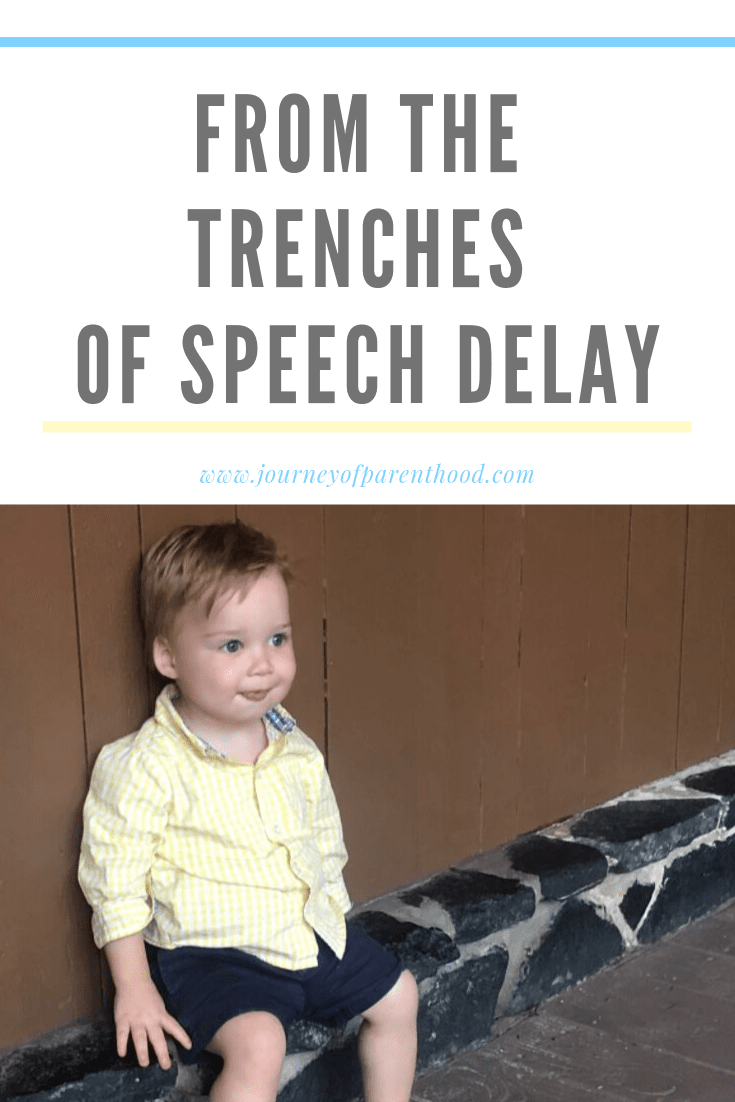toddler boy sitting - from the tenches of speech delay