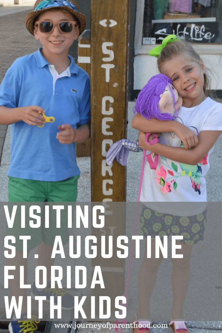 children on st George street - visiting st Augustine Florida with kids