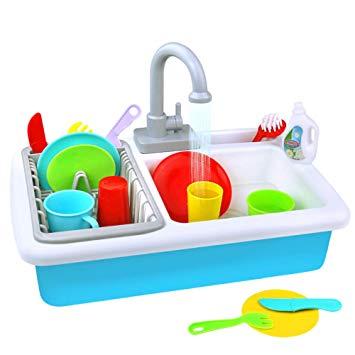 Play Kitchen Toy Sink Playset