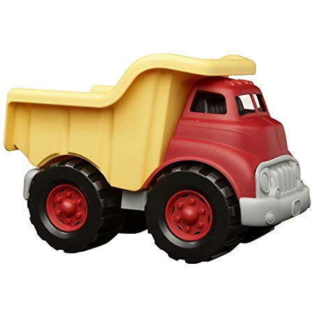 Green Toys Dump Truck in Yellow and Red