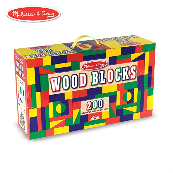 Melissa + Doug 200 Wood Block Set