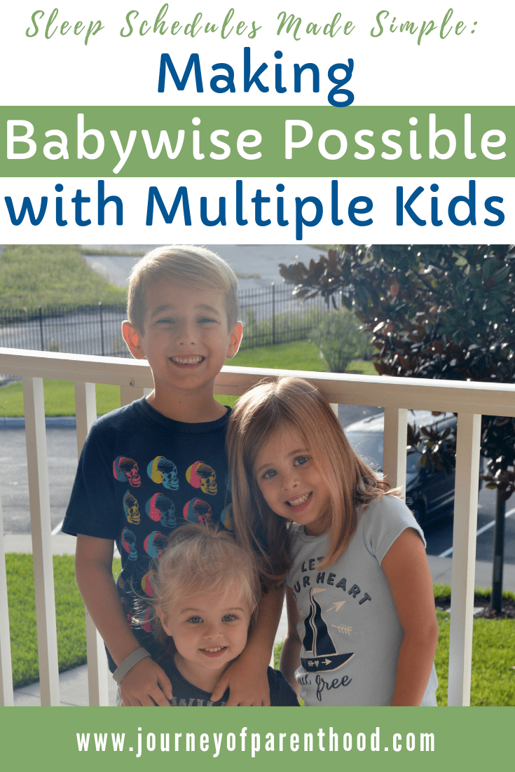 three kids on porch - sleep schedules made simple: making babywise possible with muitiple kids