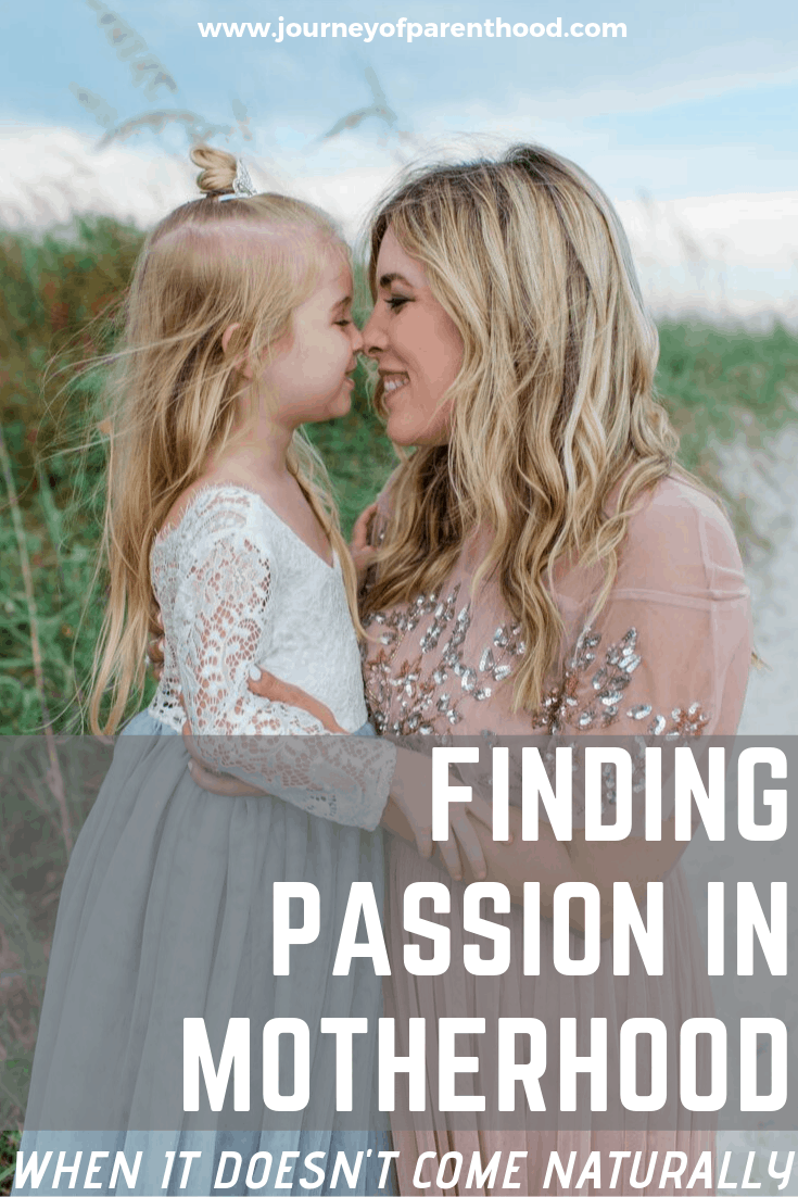 finding passion in motherhood when it doesn't come naturally - mom and daughter on beach