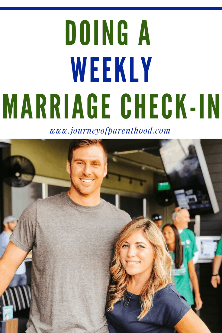 husband and wife - doing a weekly marriage check-in