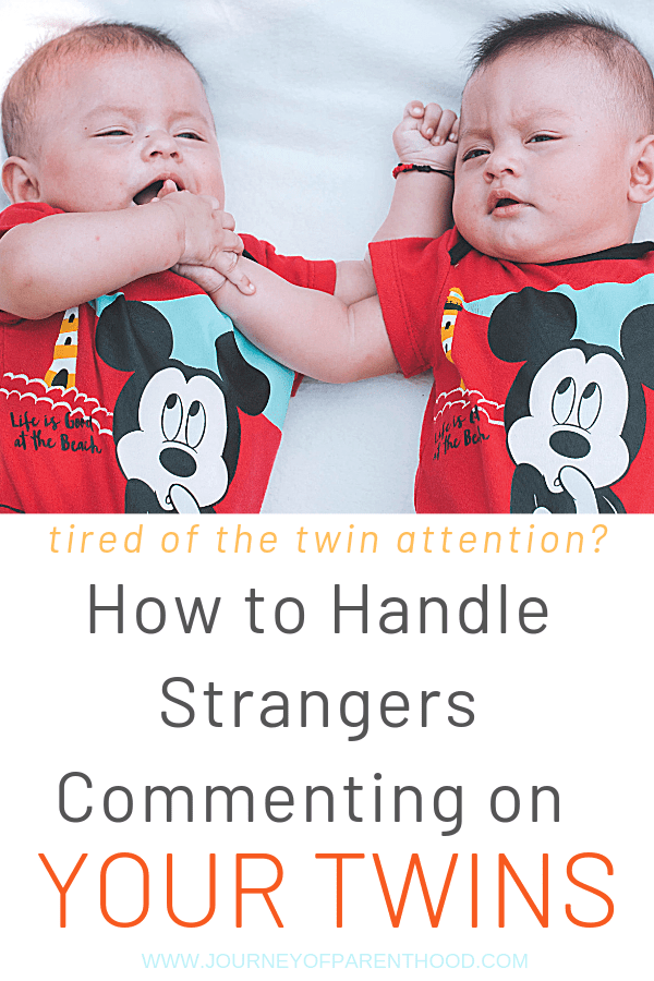 twin babies - tired of twin attention? how to handle strangers commenting on your twins