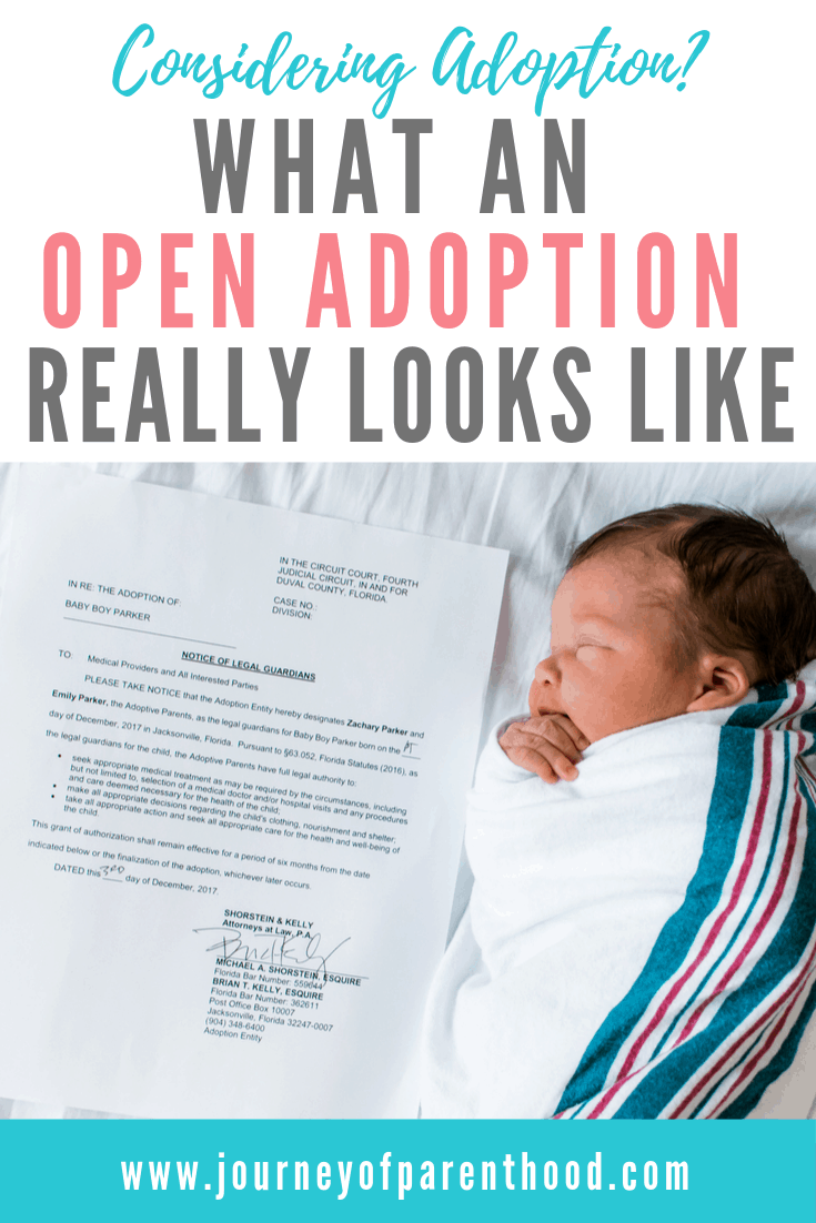 newborn baby with adoption paperwork - what an open adoption really looks like