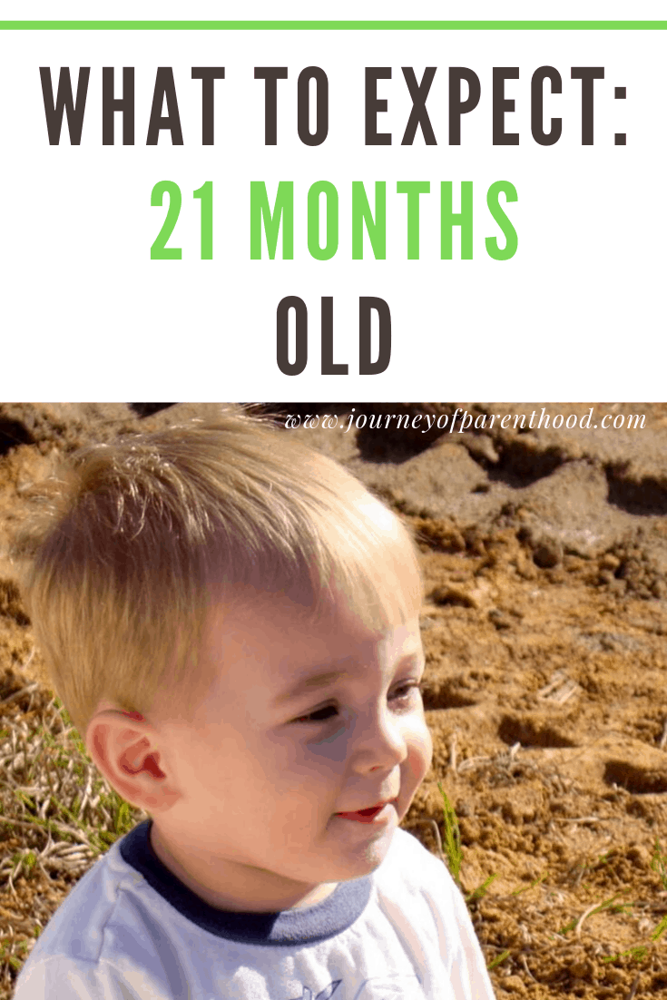 toddler boy in dirt - what to expect at 21 months old