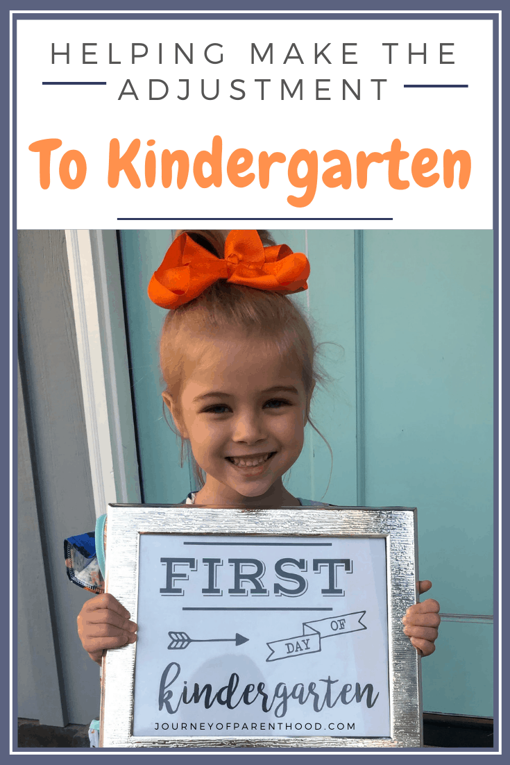 helping make the adjustment to kindergarten