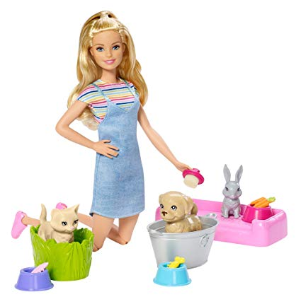 Barbie Play 'N' Wash Pets Doll & Playset