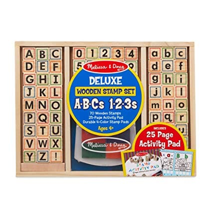 Melissa &Doug Deluxe Wooden Stamp Set