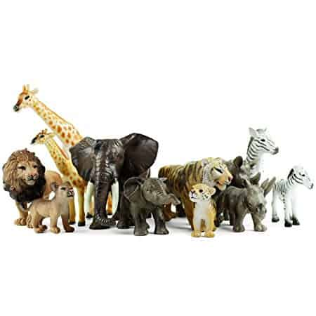 12 Piece Safari Animal Set
