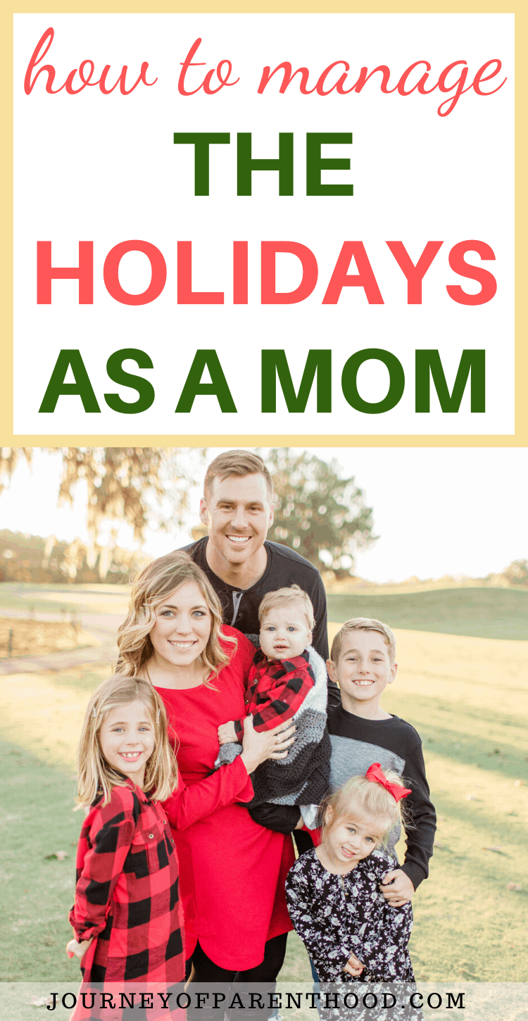 how to manage the holidays as a mom