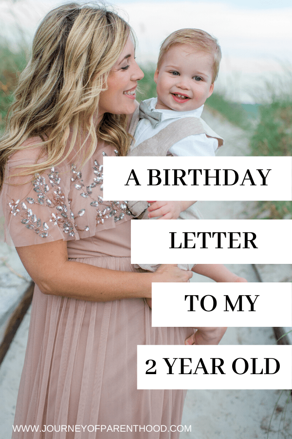 a birthday letter to my son on his 2nd bday