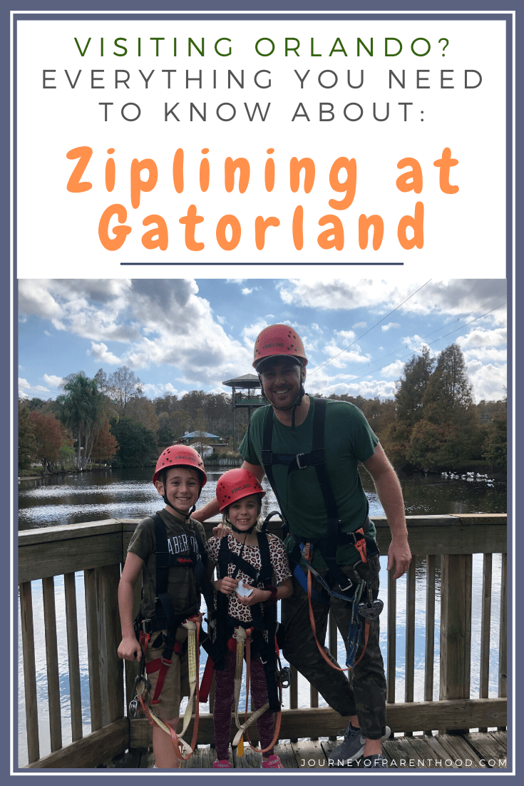 ziplining at Gatorland