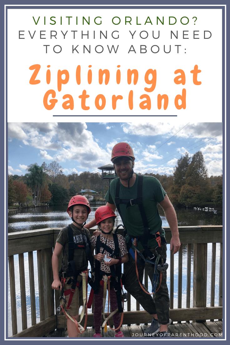 ziplining at Gatorland
