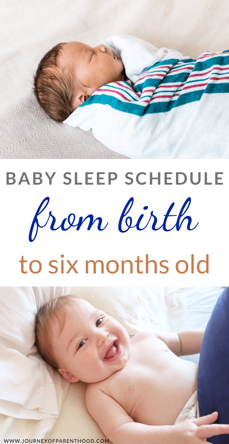 baby sleep schedule from birth to six months old