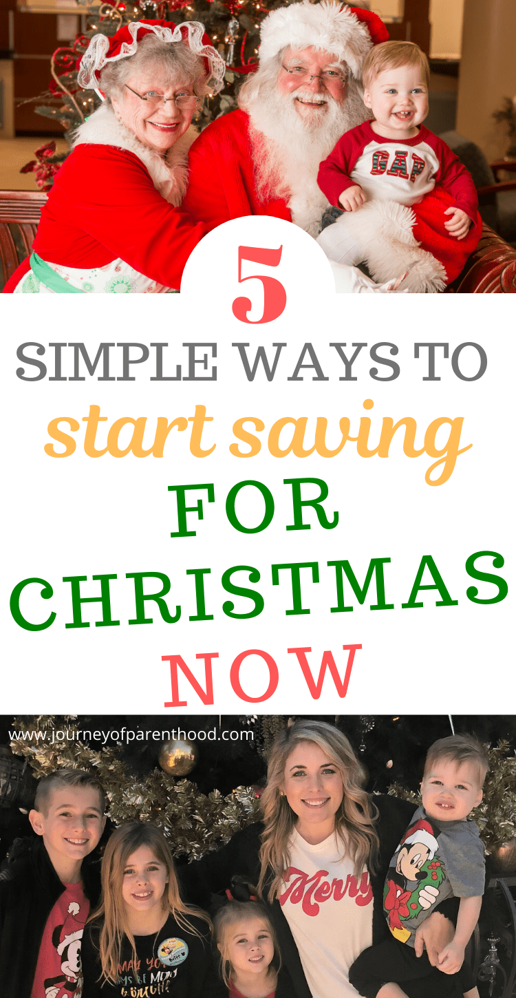 5 simple ways to start saving for christmas now - using Dave Ramsey's tips to save for the holidays