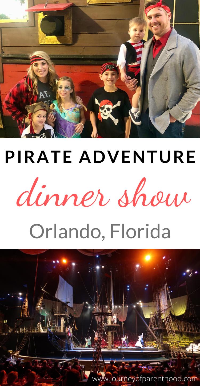 pirate adventure dinner show Orlando, Florida
