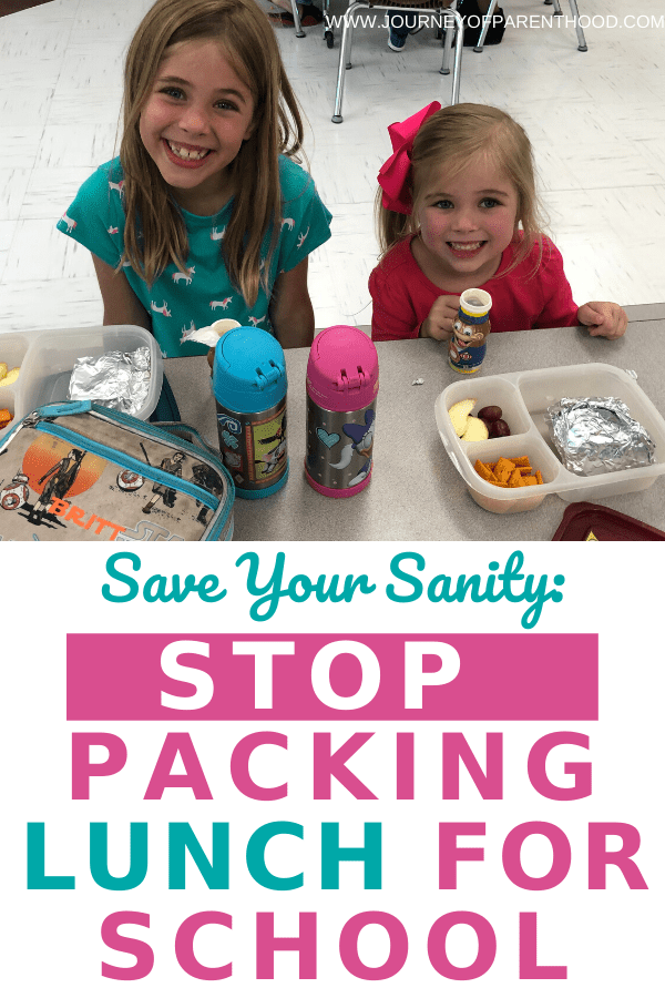 save your sanity: stop packing lunch for school