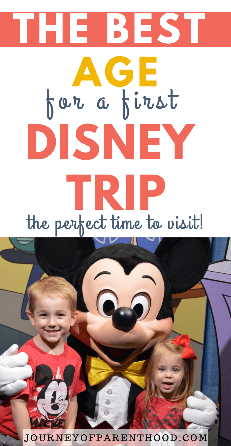 the best age for a first disney trip