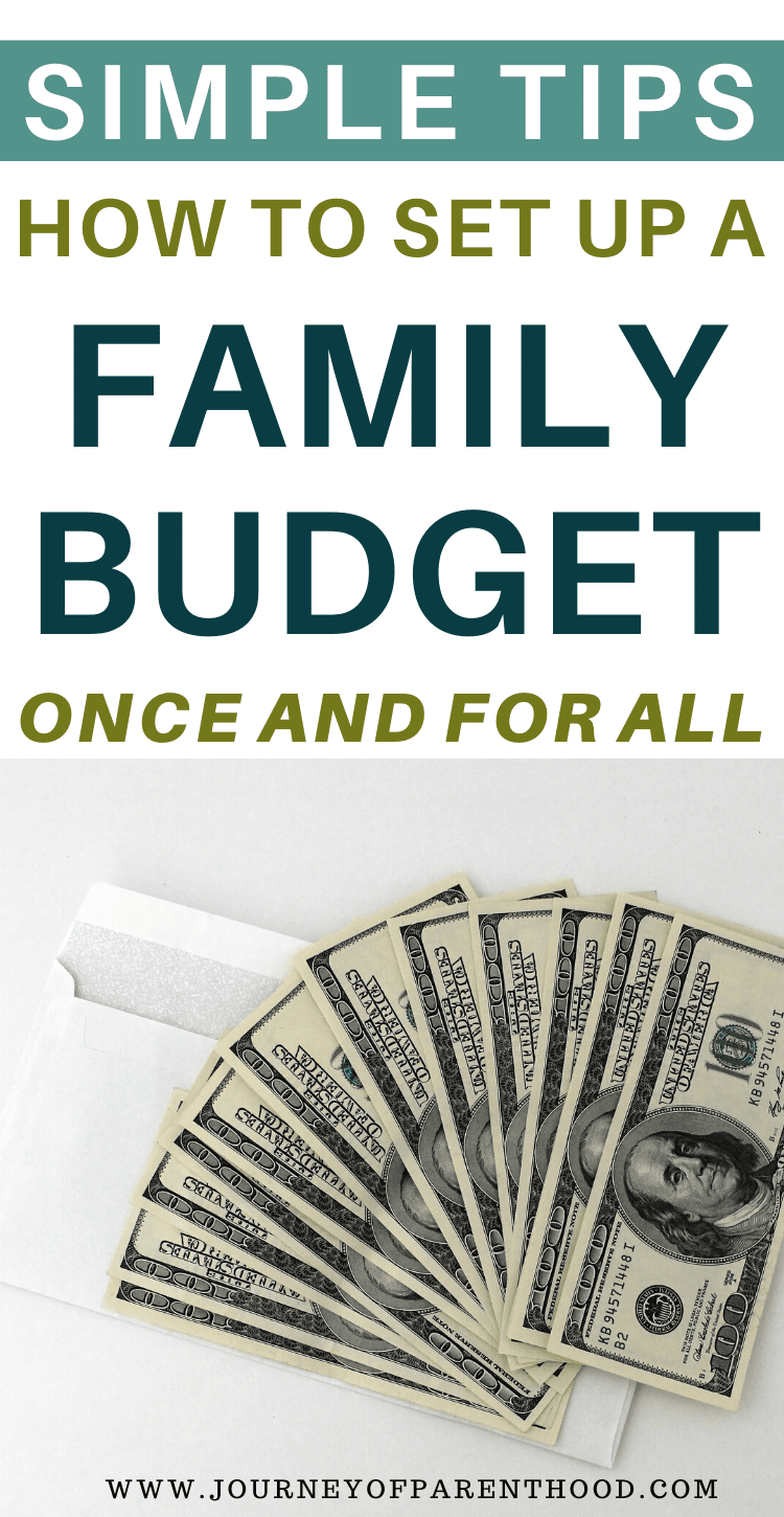 simple tips setting up a family budget once and for all